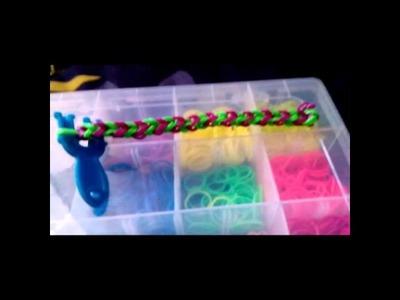 Como hacer pulseras con ligas o elasticos