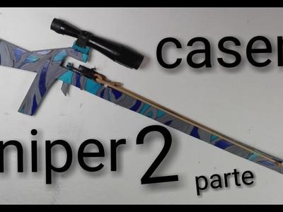 Como hacer rifle de canicas casero (parte 2) (How to make homemade  rifle)(pintura)