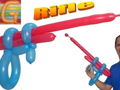 Como hacer una pistola con globos largos - globoflexia facil - figuras con globos pistola