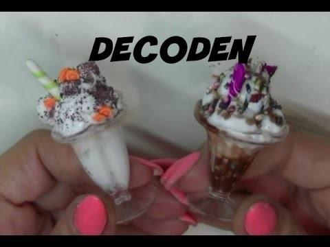 Copas de helado y Batidos con Decoden