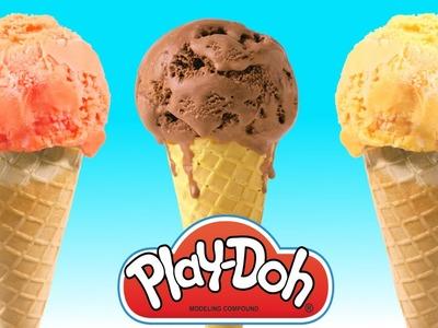 Crea Tus Propios Postres Con Play Doh ???? Play Doh Ice Cream Divertidas Manualidades Plastilina