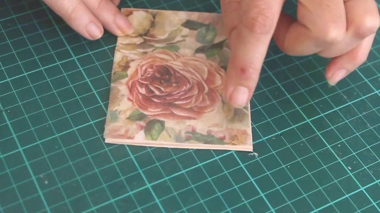 Decoupage sobre acetato - tarjeta y mariposas - Decoupage on acetate - card and butterflies