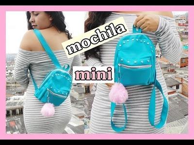 DIY - mini mochila super facil de hacer