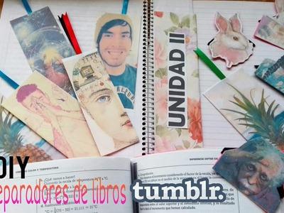 DIY: Separadores tumblr para libros y cuadernos.