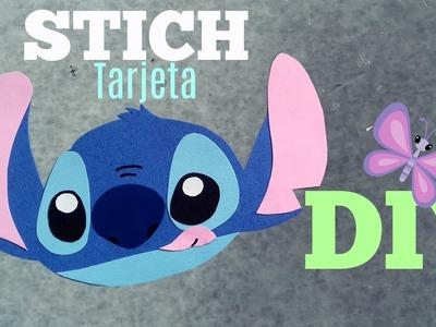 ♡ DIY ♡ Tarjeta STICH ♡ Detalles chiquitos para regalar ♡