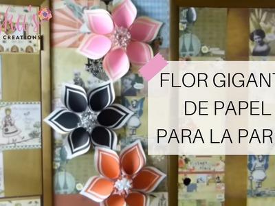 Flor Gigante de Papel para la Pared - Video #1 | Luzka's Creations ✿