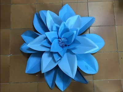 Flor grande 26 hecha en papel  Big flower made in paper