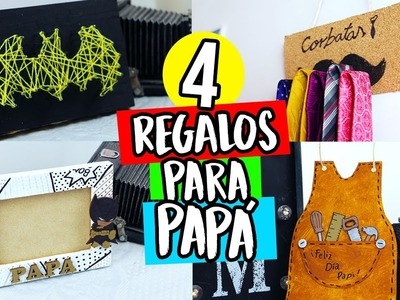 ¡4 REGALOS FÁCILES PARA PAPÁ! (IDEAS DE ÚLTIMO MINUTO) | Paulettee