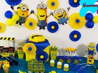 Ideas de MINIONS para fiesta.mesa de dulces ????SUPERMANUALIDADES????