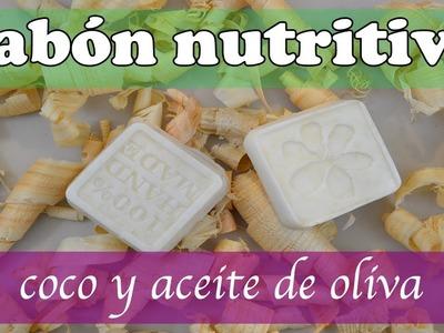 Jabón nutritivo humectante de coco y aceite de oliva