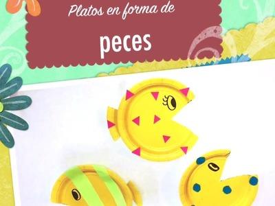 PECES CON PLATOS DE CARTÓN | MANUALIDAD