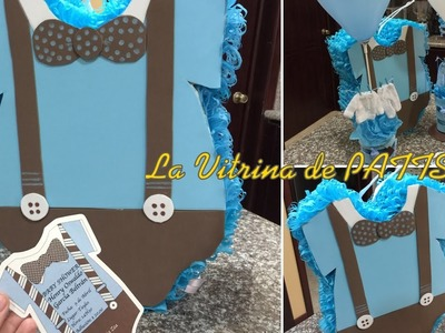 Piñata para Baby shower, en forma de ropa de bebe