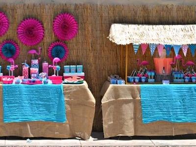 Piscina decoración de la fiesta Ideas -  Pool Party Decoration Ideas