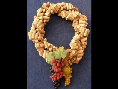 Rápido y Fácil - Haga una Corona de Corchos de Vino Recicladas