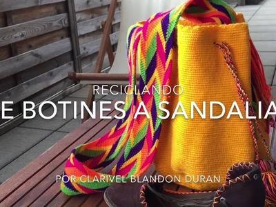 Reciclando: De Botines A Sandalias