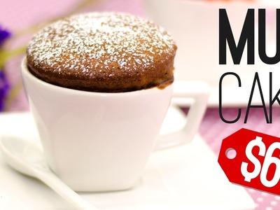 RETO: MUG CAKE POR MENOS DE 60 PESOS (3 EUROS.3 DÓLARES) ☕️????| Recién Cocinados