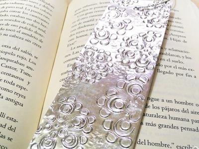 Separador de libros con repujado en aluminio - Fácil y rápido