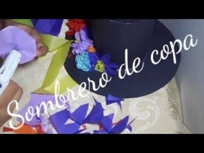 Sombrero de copa para disfraz de catrina.dia de muertos.halloween
