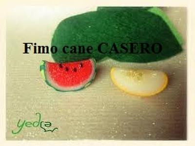 Tutorial♥: Como Hacer un Fimo Cane Casero♥ (Sandía)
