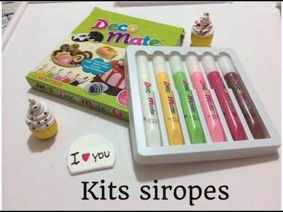 Tutorial como usar siropes fimo i clay.syrups to decorate