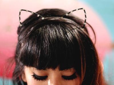 15 Super Diademas con Orejas de Gato - Peinados de Fiesta
