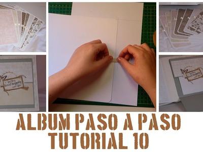 ÁLBUM PASO A PASO - TUTORIAL 10: TARJETAS INTERIORES Y DESPLEGABLE FINAL