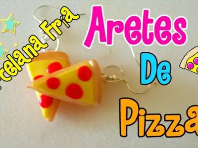 Aretes de pizza en porcelana fría!! 2° video de accesorios