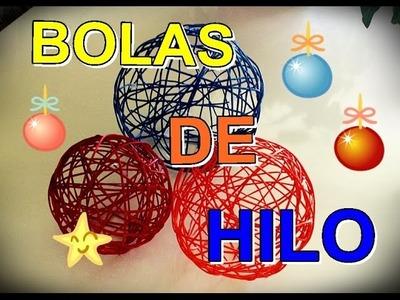 BOLAS DE HILO PARA DECORACION