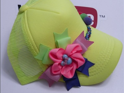 Como decorar gorras infantiles,Beautiful flowers to decorate hats
