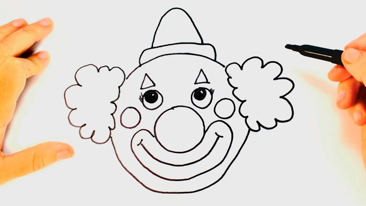 Cómo dibujar un Payaso para niños | Dibujo de Payaso paso a paso