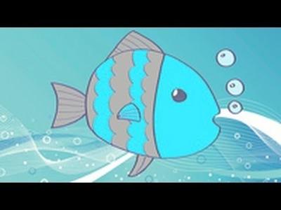 Cómo dibujar un pez. Dibujos infantiles