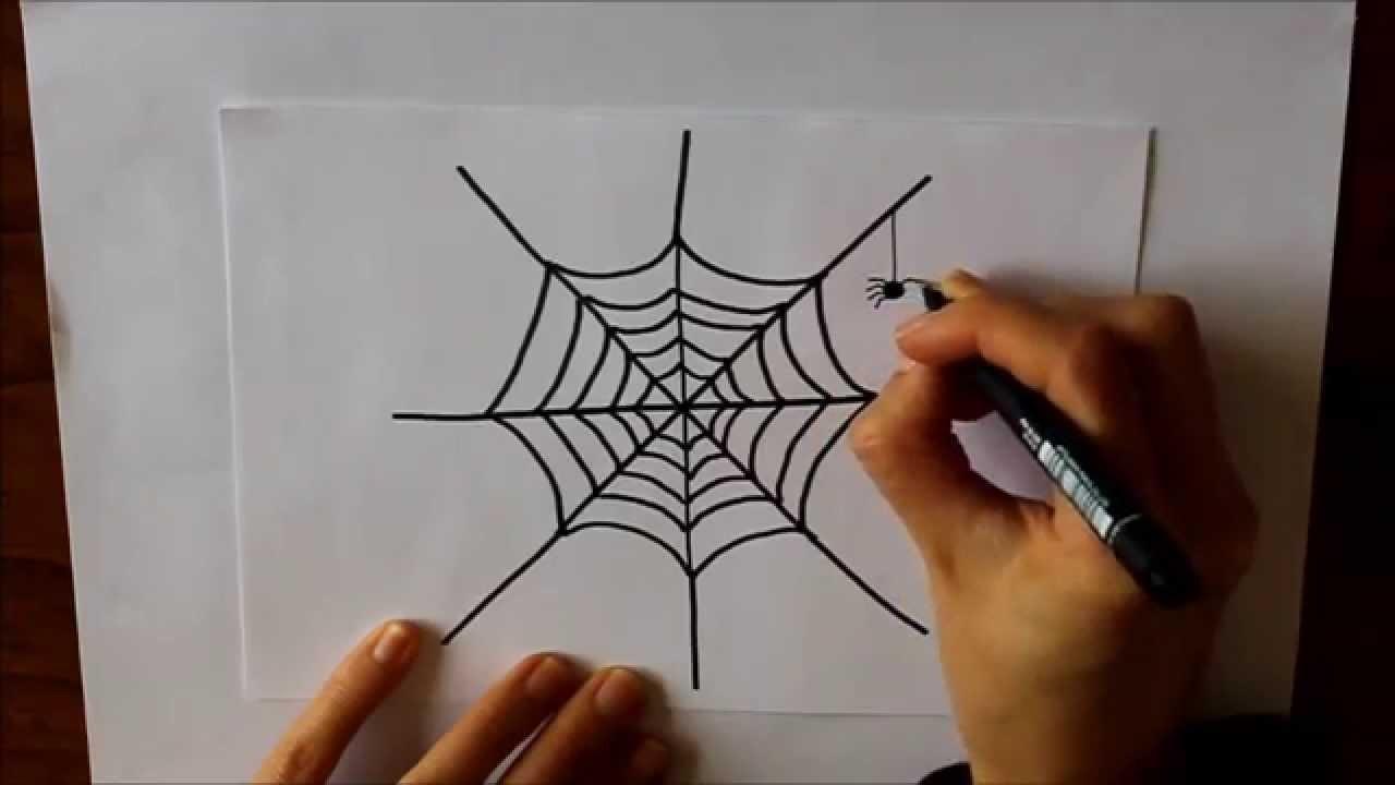 Arañas De Halloween Para Colorear: Cómo Dibujar Una Tela De Araña Dibuja Conmigo Dibujos De
