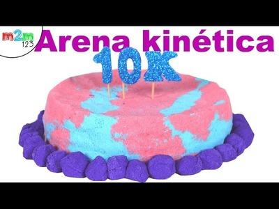 ???? Como hacer ARENA KINETICA + UNICORNIO | KINETIC SAND + UNICORN  - 10K  |  DIY
