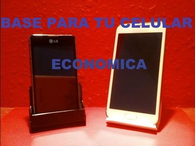 Como hacer base para tu celular(stand for phone)