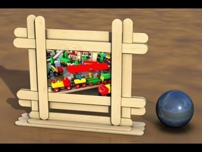 Cómo hacer del estilo del marco de imágenes Con Palitos de Paleta - Craft para el cabrito