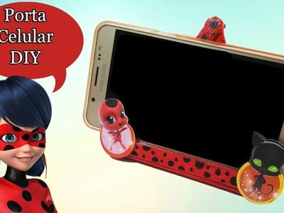 Como hacer porta celular de ladybug con palitos de helado ???? Soporte para movil DIY - Juguetes de JJ