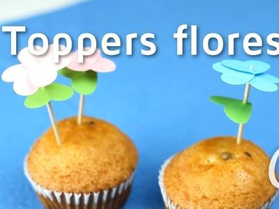 Cómo hacer toppers en forma de flor | facilisimo.com
