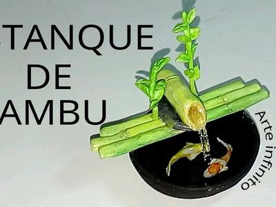 Como-hacer-un-estanque-bambú-miniatura.Funny art shop