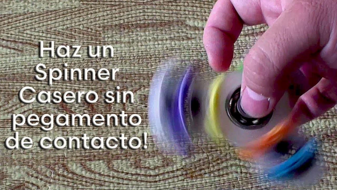 Como hacer un Fidget Spinner Casero sin usar pegamento de Contacto