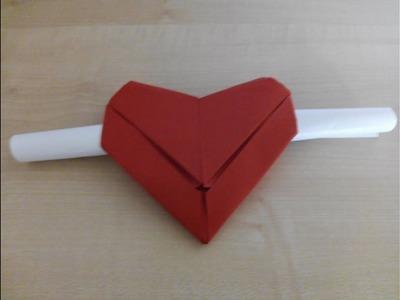 Como hacer un sobre en forma de corazon Origami3