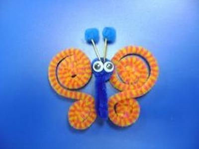 Como hacer una mariposa de limpiapipas