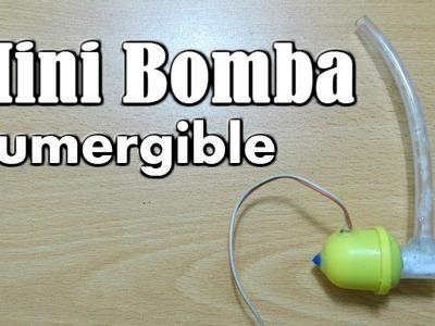 Cómo hacer una Mini Bomba de Agua Casera (fácil de hacer)
