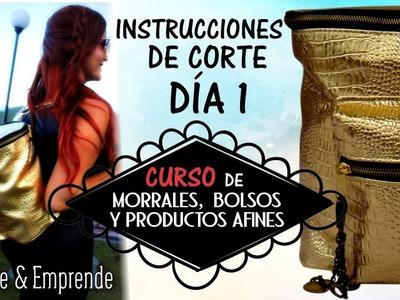 Curso de Morrales , Bolsos y Afines. trazo de moldes y corte .