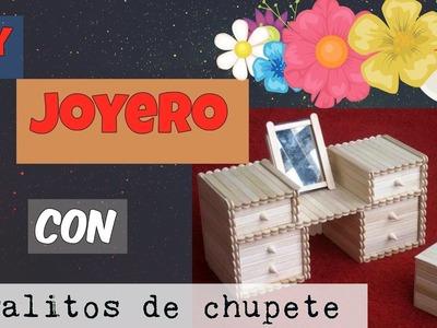 DIY JOYERO CON PALITOS DE CHUPETE  ღ