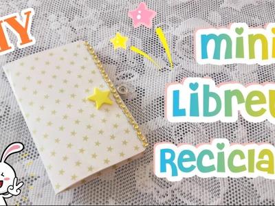 DIY MINI LIBRETA CON MATERIAL RECICLADO