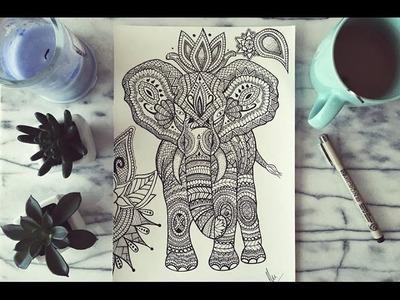 Elefante Zentangle Time Lapse