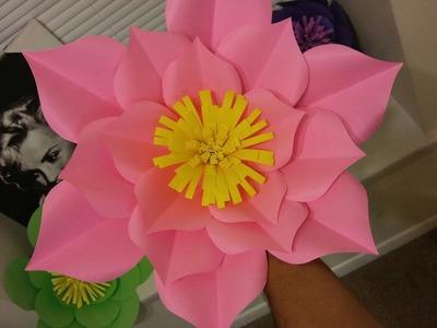 Flores de papel gigantes | Giant flowers paper