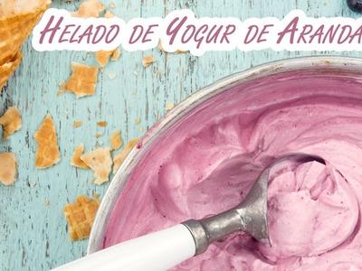 Helado de Yogur de Arandanos sin Maquina Heladera
