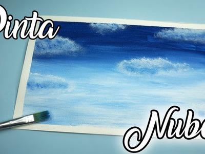 ♡ ¡Pintemos nubes! (Técnica fácil y rápida) - Nivel:  Principiantes ♡