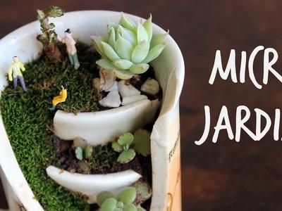 Micro jardim na xicara quebrada | Very small garden in a broken cup - Cactos e suculentas
